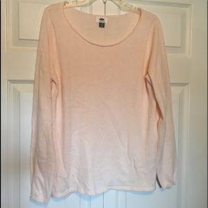 Old Navy Blush Pink Sweater. Super soft L. NWOT